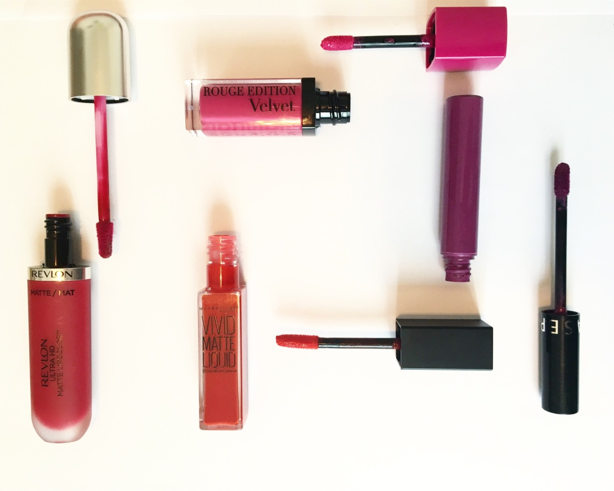 Revlon/ Bourjois/ Maybelline/ Sephora- My search for the perfect Liquid Matte Lipstick!(4 in 1review).