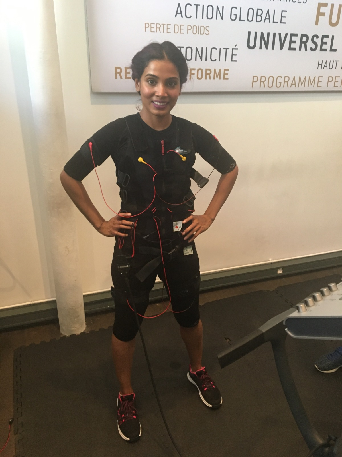 I tried the Electrical Muscle Simulation (EMS)workout.