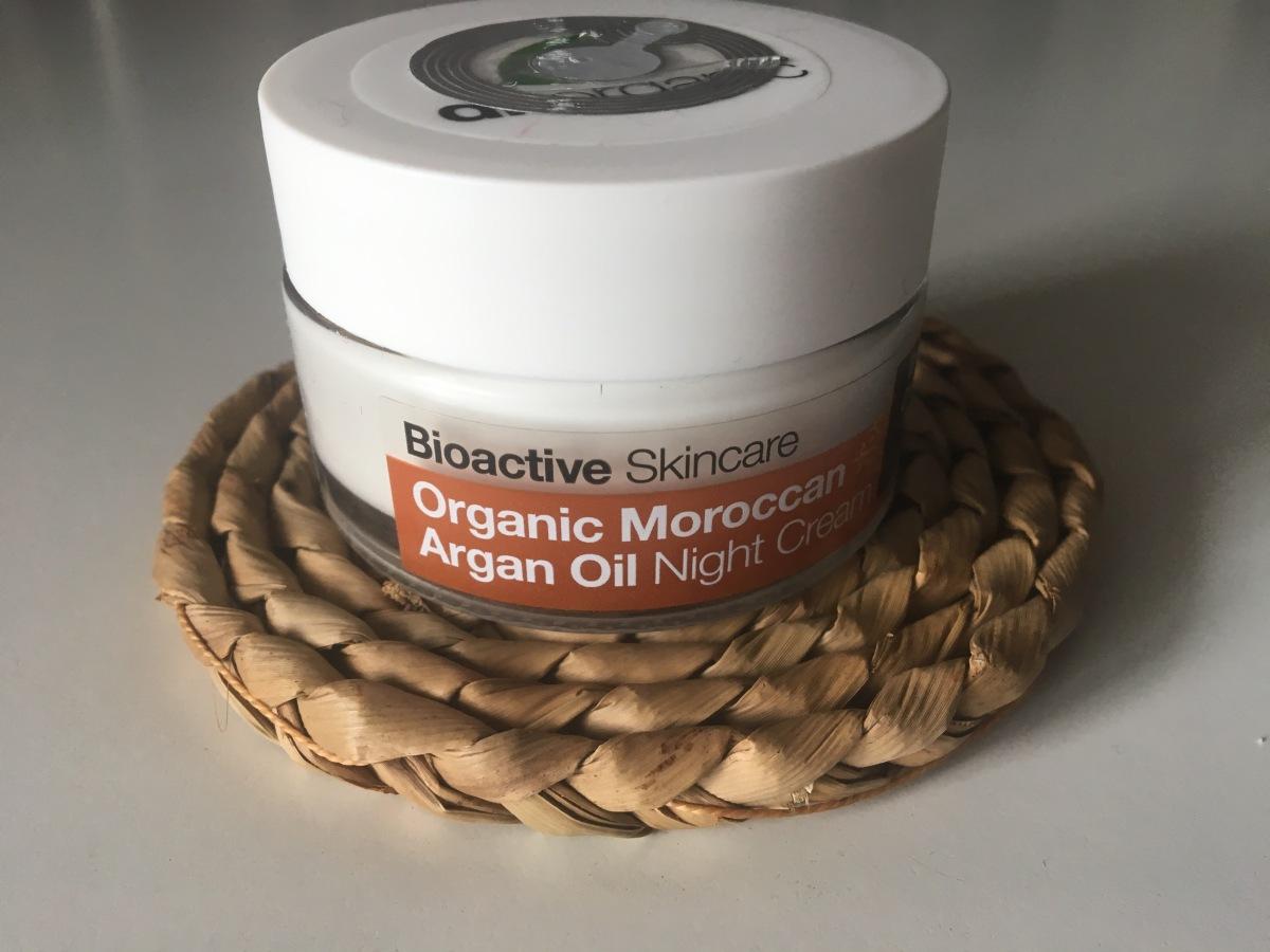 Review: Dr. Organics Morrocan Argan Oil NightCream.