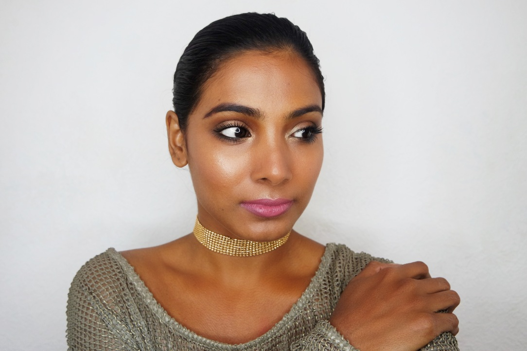 Summer Bronze and Gold Makeup Chai and Lipstick