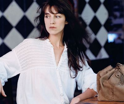 charlotte gainsbourg French beauty - chai and lipstick