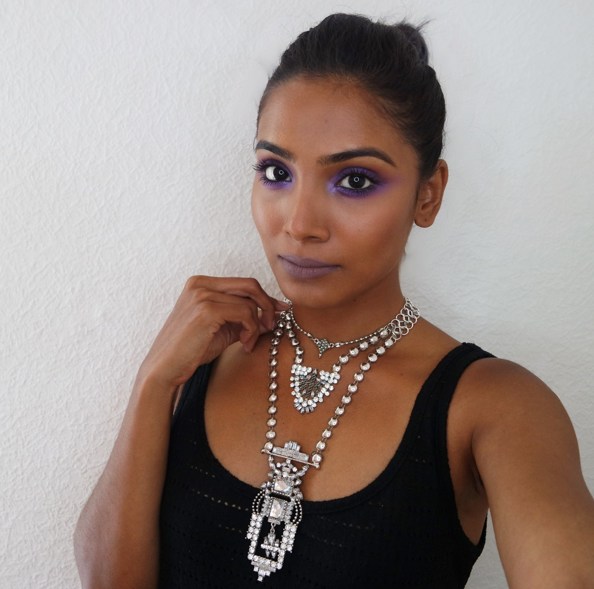 Purple- Grey weekend look! #MOTD