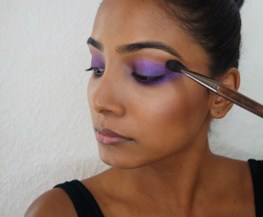 Purple and Grey makeup tutorial - Chai & Lipstick