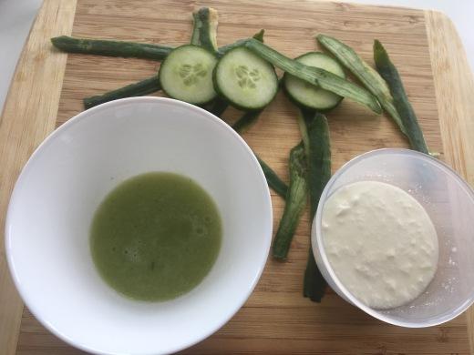 Cucumber DIY skincare Chai & Lipstick