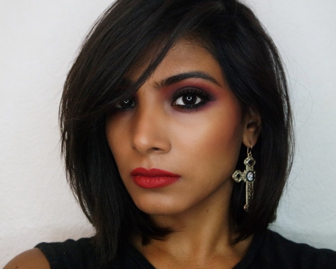 Fall Monotone Red Makeup Tutorial - Chai & Lipstick