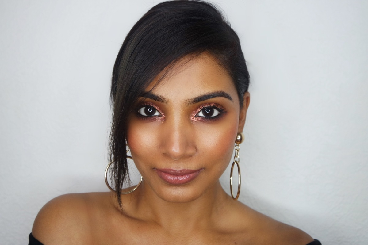 Rose Gold Cosmo Makeup – Holiday look1