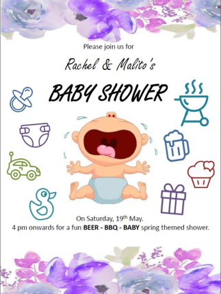 baby shower invite free download
