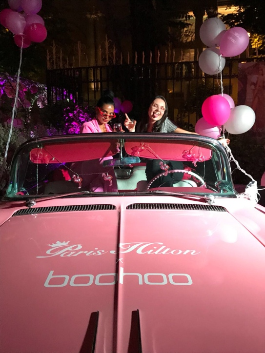 paris hilton x boohoo launch party in paris