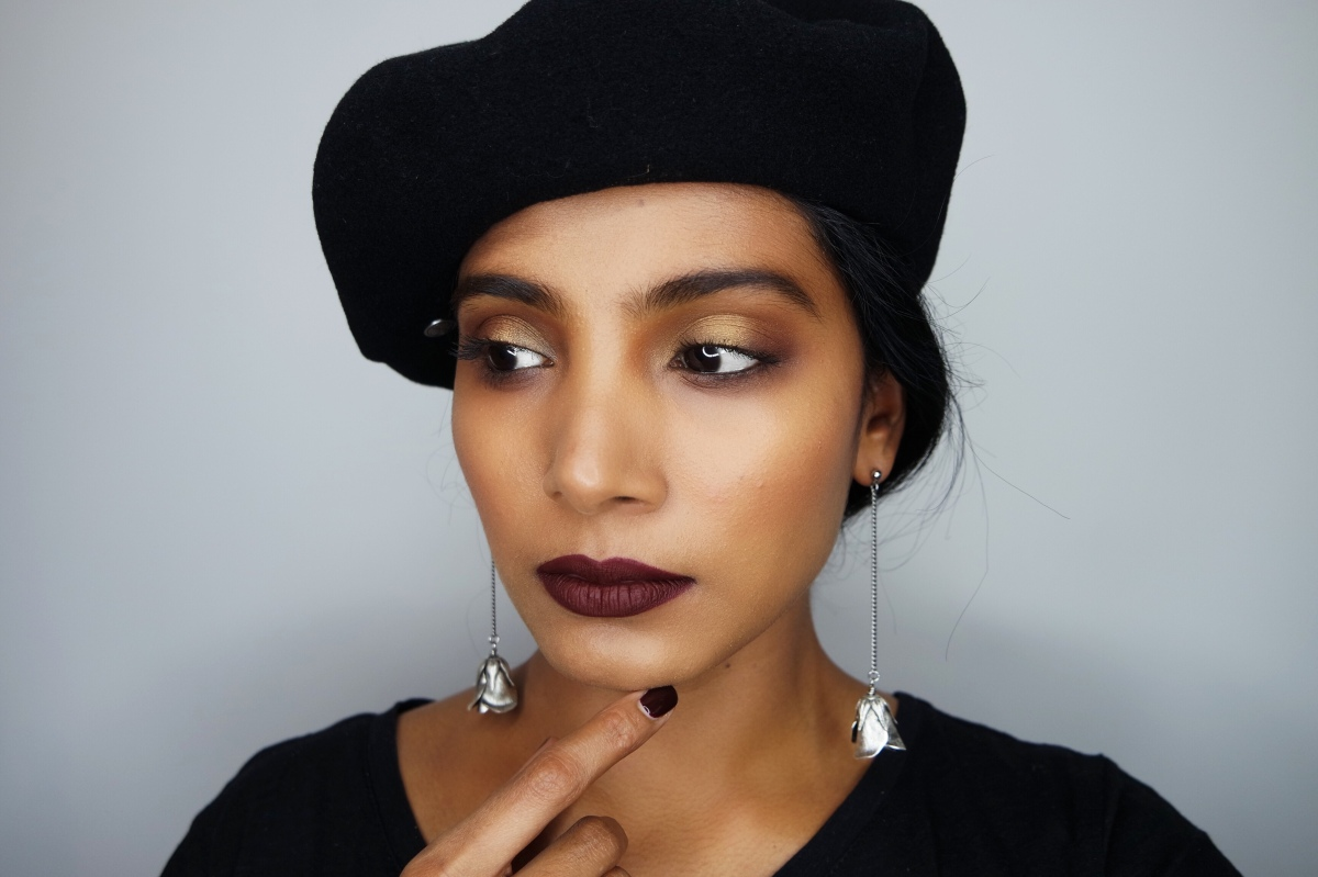 Very Berry Fall makeup look