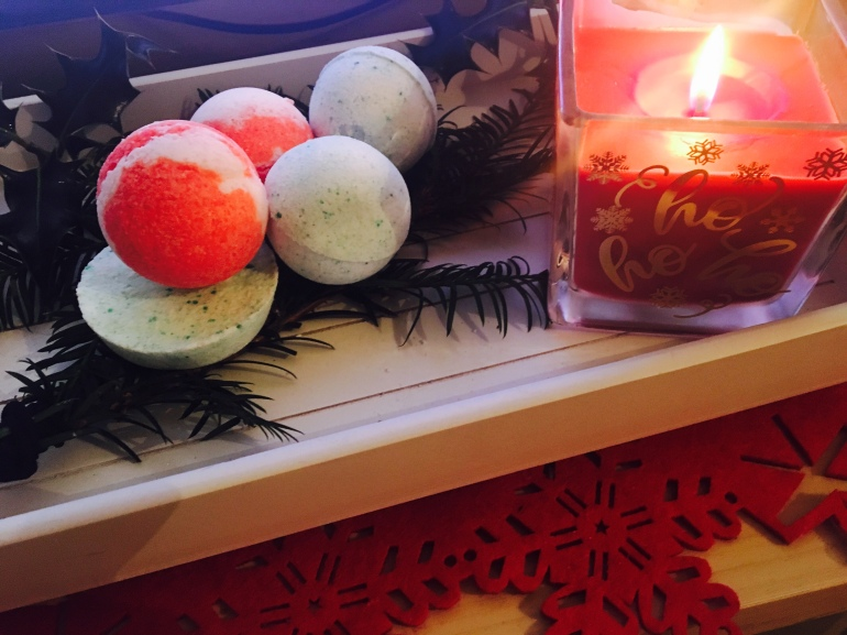 bathbomb DIY for christmas